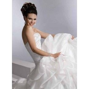 Size 6 - 20 Ball Gown Sweetheart Court Train Taffeta Bridal Gown wedding dress