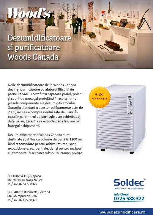 Soldec: Dezumidificatoare si purificatoare Woods Canada