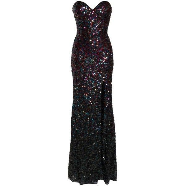 Women's Mac Duggal Sequin Bustier Gown ($338) ❤ liked on Polyvore featuring dresses, gowns, sequin evening dresses, bustier dress, mac duggal evening gowns, mac duggal dresses and sequin evening gowns