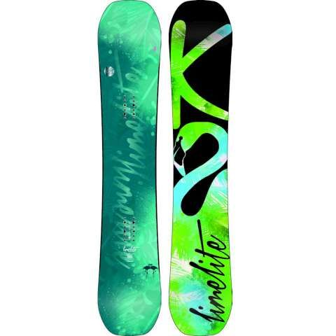 A used snowboard to practise on sledding hills  Lime green?