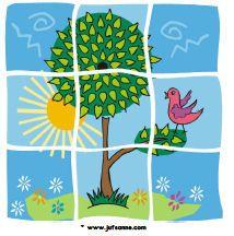 Summer downloads - Miss Sanne 4- 9 piece puzzles