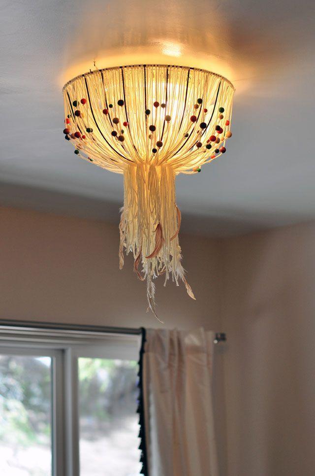 DIY Eames Inspired Bohemian Pendant Lamp Cover