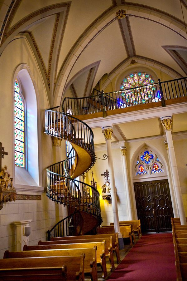 "Loretto Chapel - Sante Fe, New Mexico! One of my fave cities! Love the history of the city and this beautiful chapel! Be sure and check out the story of the ""miracle staircase"": http://www.lorettochapel.com/staircase.html"