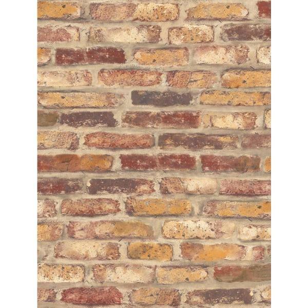 Nextwall Rustic Faux Brick Vinyl Peelable Wallpaper Covers 30 75 Sq Ft Nw30201 The Home Depot Brick Wallpaper Roll Brick Wallpaper Red Brick Wallpaper