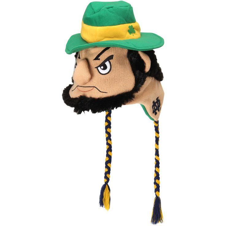 Notre Dame Fighting Irish Leprechaun Mascot Knit Beanie - Green