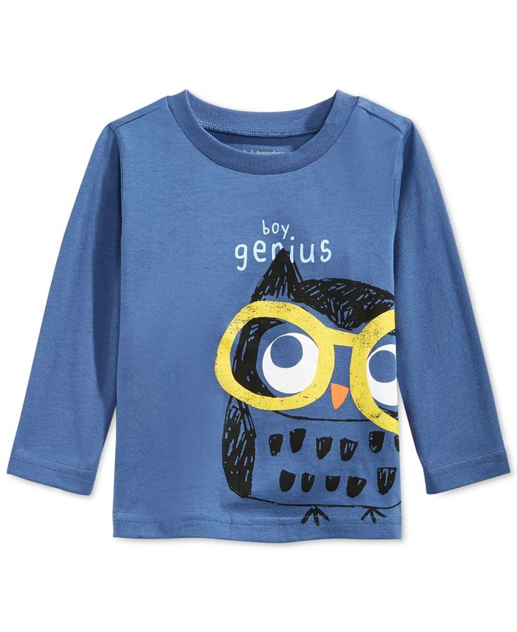 First Impressions Baby Boys' Long-Sleeve Boy Genius T-Shirt, Only at Macy's