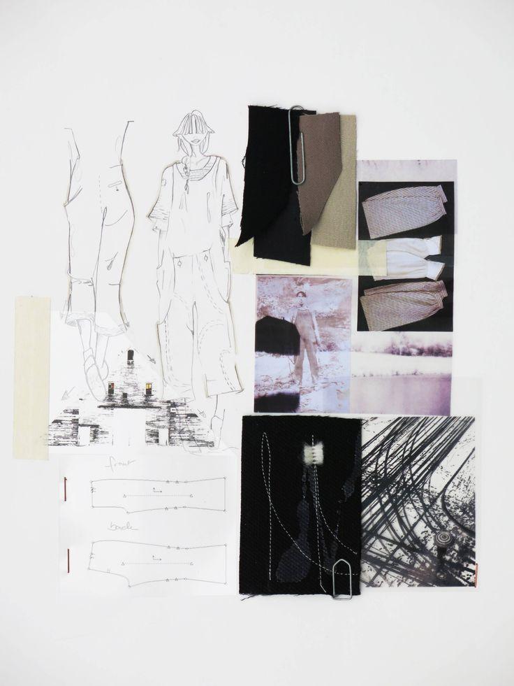 Fashion Sketchbook - fashion design development, colour research, mood, fabrics, fashion sketches // Dani Hermann