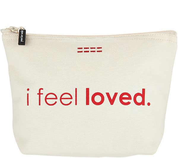Peace Love World Affirmation Canvas Zipper Pouches Qvc Pouches And Peace