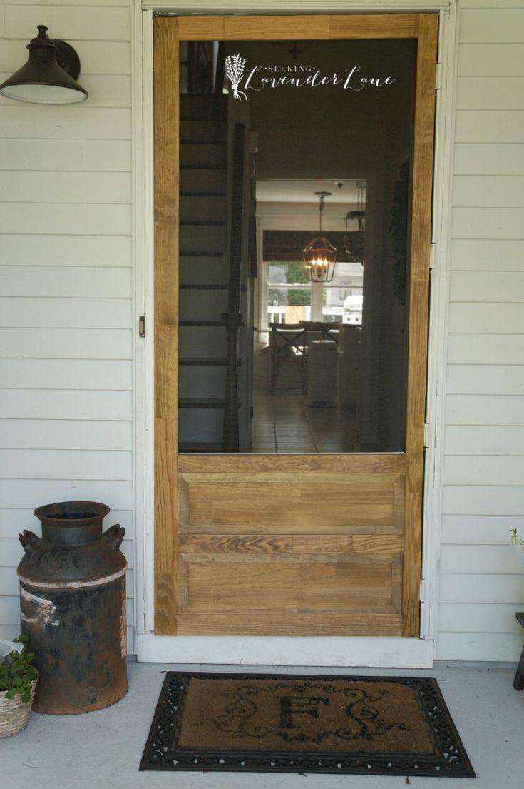 Farmhouse Style Screen Door