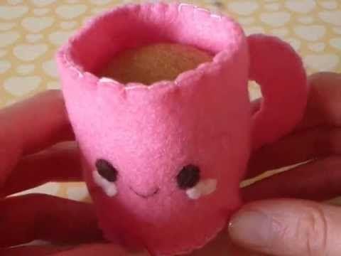 How to Make a Cute Coffee Mug From Felt