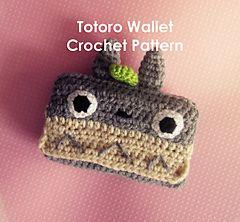 Kawaii Totoro phone case & credit card wallet - PDF crochet pattern