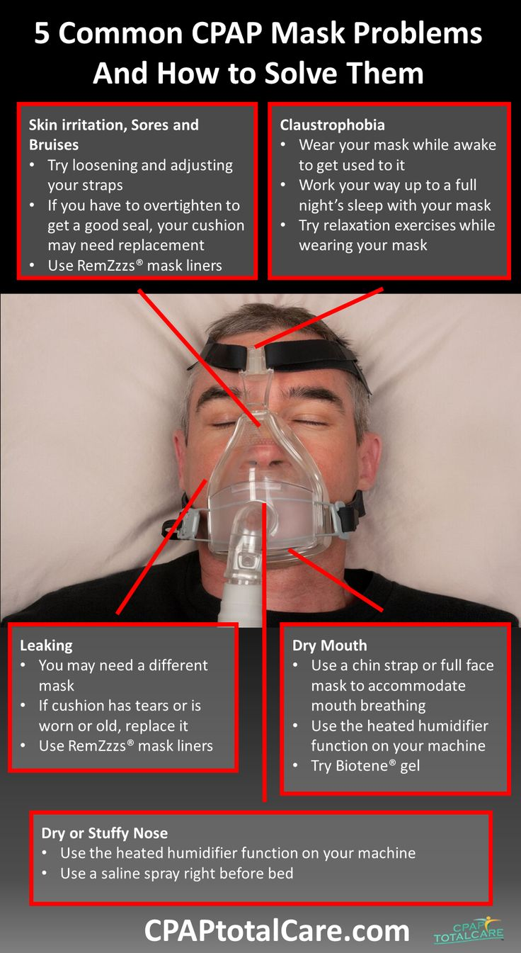 5 Common CPAP Mask Problems and How to Solve them - http://content.cpaptotalcare.com/5-common-cpap-mask-problems-and-how-to-solve-them/