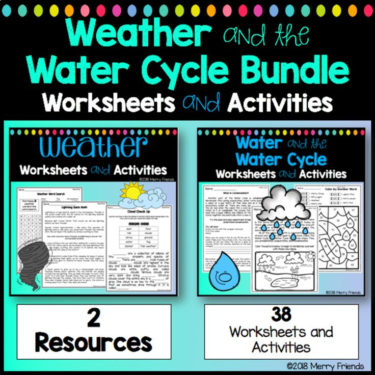 Weather and Water Cycle Worksheets and Activities Bundle