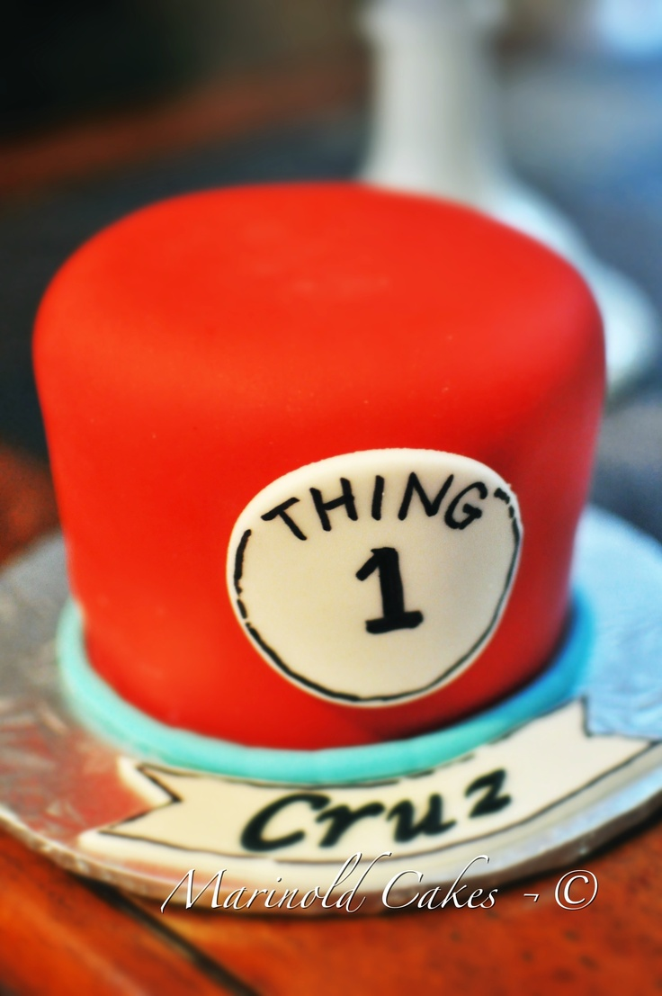Thing 1 & Thing 2 Birthday Cake for Twins
