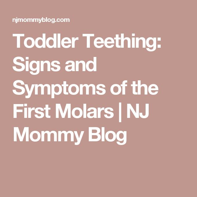 Toddler Teething: Signs and Symptoms of the First Molars | NJ Mommy Blog
