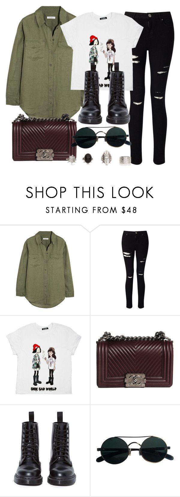 """Style #11223"" by vany-alvarado ❤ liked on Polyvore featuring Equipment, Miss Selfridge, Chanel and Dr. Martens"