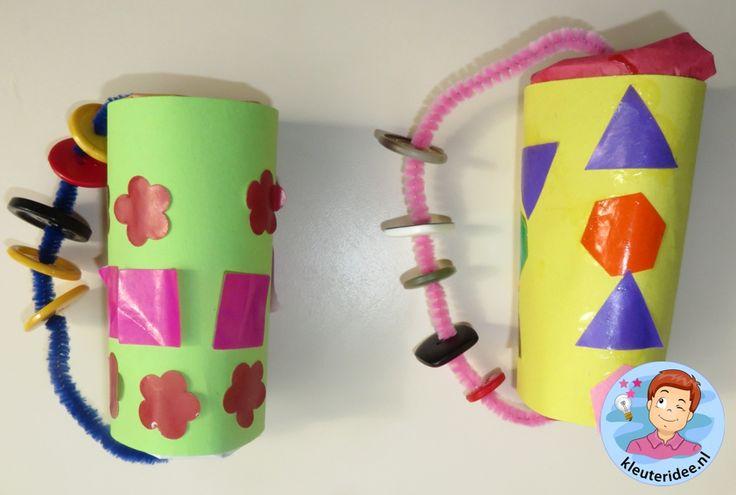 Rammelaar voor de baby thema baby voor kleuters, kleuteridee.nl, Kindergarten baby craft