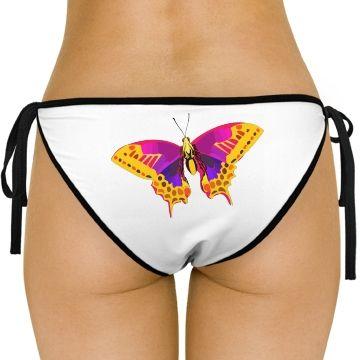 Bright Butterfly Side-Tie Bikini Swimsuit Bottom