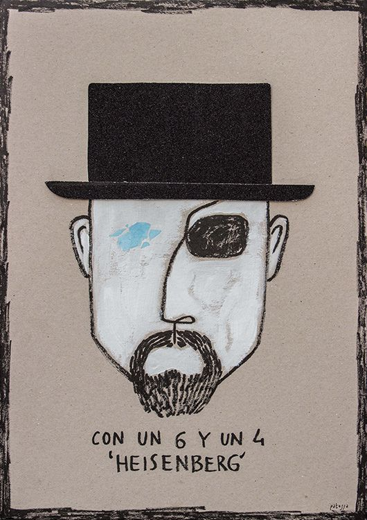 Con un 6 y un 4 (hago la cara de tu retrato) 'Heisenberg'.  With one six and one four (your portrait is conformed) 'Heisenberg'  #BreakingBad #Heisenberg