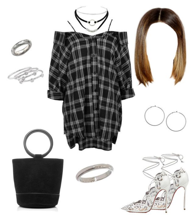 """""""Untitled #136"""" by cryamilet19 on Polyvore featuring Boohoo, Christian Louboutin, Tiffany & Co., Rene Escobar, Jennifer Fisher, Lane Bryant, Simon Miller and London Road"""