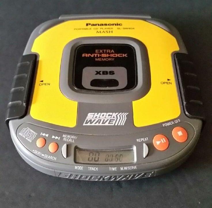 Panasonic Portable CD Player SL SW404 MASH Shock Wave XBS Tested And Works #Panasonic