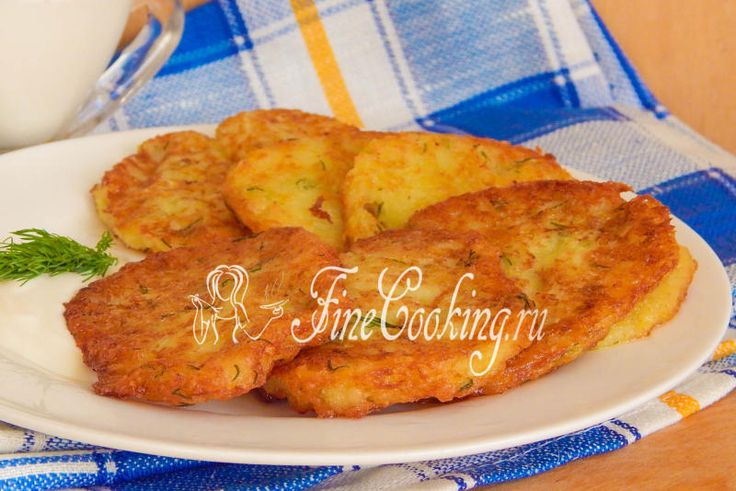 Картофельные оладьи с кабачком - рецепт с фото
