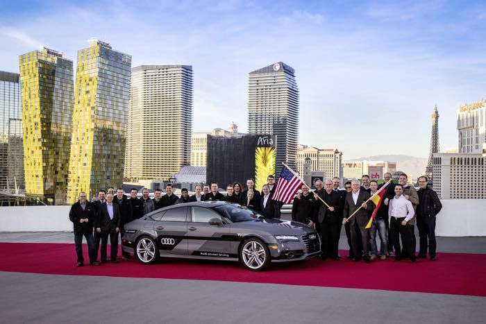 The Audi A7 Sportback piloted drive concept has arrived in Las Vegas, the car has completed a 560 mile journey from Silcon Valley to Las Vegas. The vehicle is a concept car that is capable of driving itself, it is based on the Audi A7 3.0 TFSI. According to Audi, this self driving vehicle uses a number of production ready sensors that can detect vehicles around it, pedestrians and also its surroundings. | Geeky Gadgets