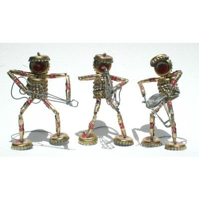 Tin Art Band made from Recycled Beer Bottle Tops