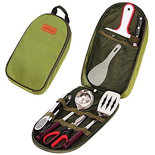Introducing Wealers 7 Piece Outdoor Indoor Camping Bbq Cooking Utensils Set Kitchenware. Great product and follow us for more updates!