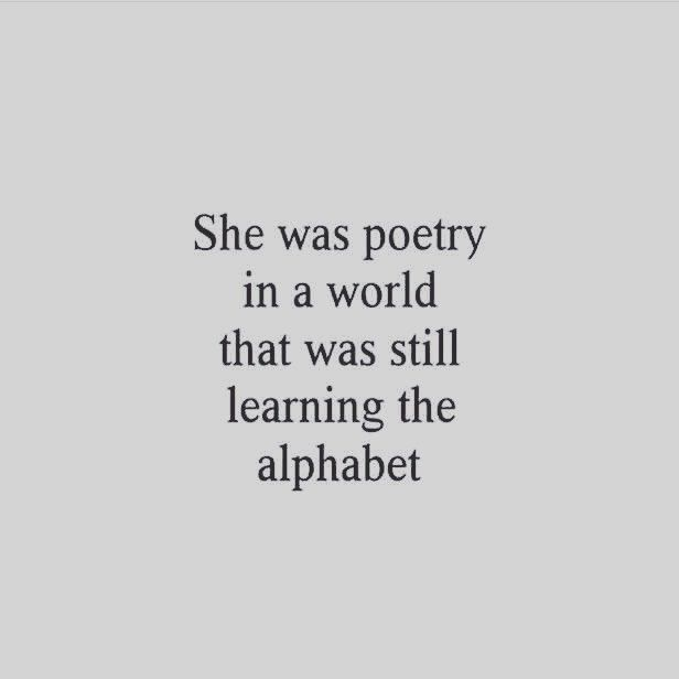 She Was a Poetry..