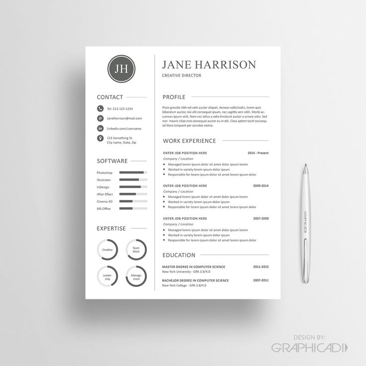 27 best Etsy Resume Templates - Etsy CV Templates images on - ats friendly resume
