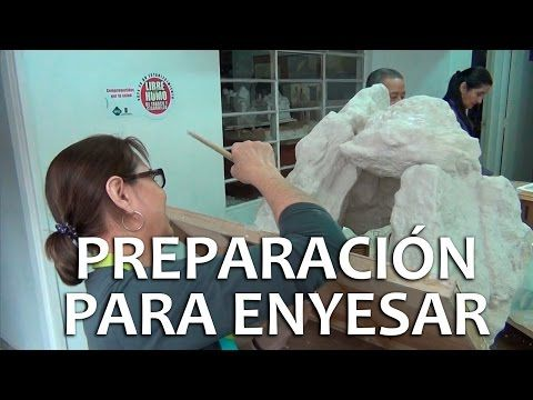 Taller del pesebre tip 3 - Preparación para enyesar - YouTube