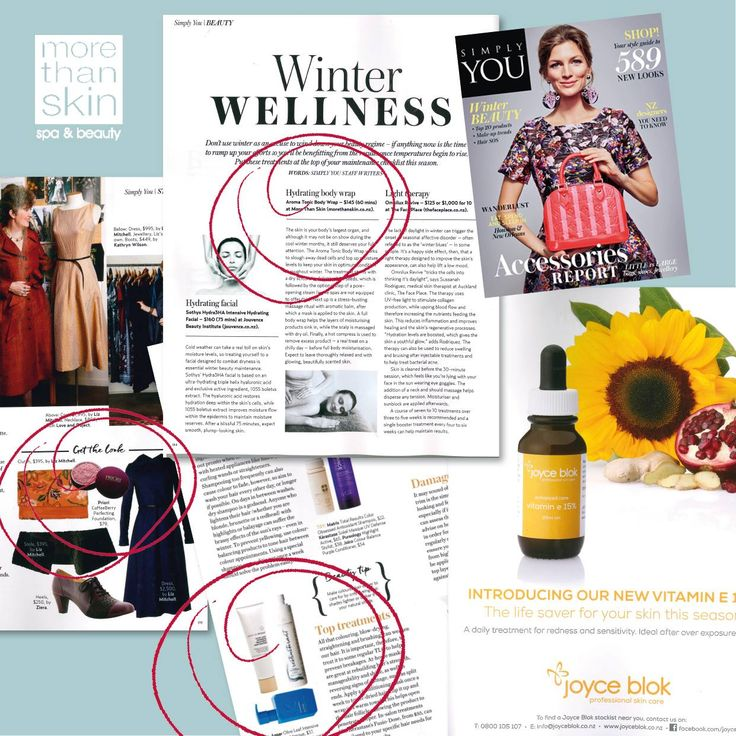Our Hydrating Body Wrap featured in Simply You, along with other mentions on fabulous products we have in-salon!