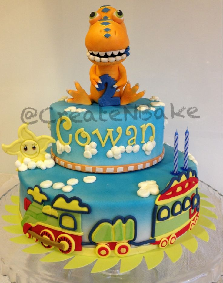 Dinosaur Train cake . Boy Cakes Pinterest