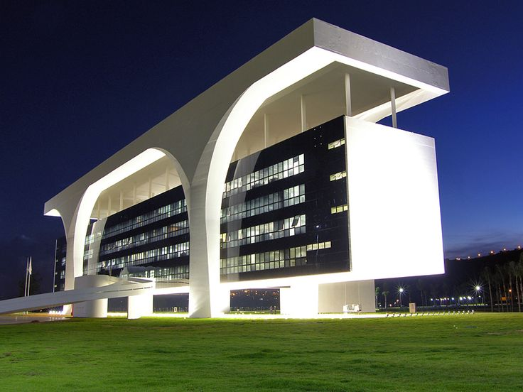 The Tiradentes Palace, designed by Oscar Niemeyer - Incrível sistema estrutural! <3