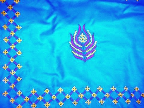 kutch+work+on+saree+peacock+feather+design+worked+(13).JPG (480×360)
