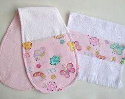 Kit bebê: Pano de ombro e toalha de boca