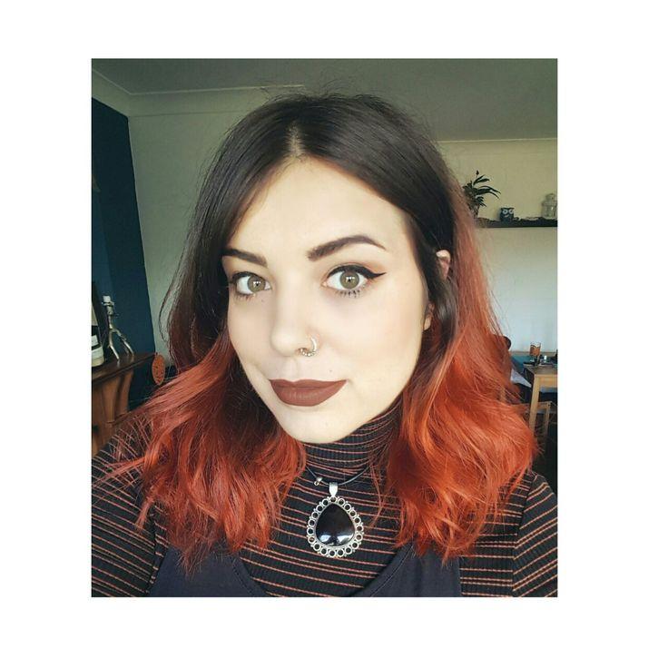 Autumn Orange dip dye hair