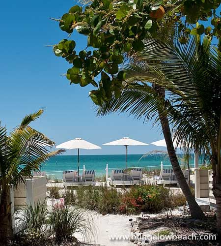 Beach Cottage at the Bungalow Beach Resort on Anna Maria Island in the Bradenton Area. How perfect is this?