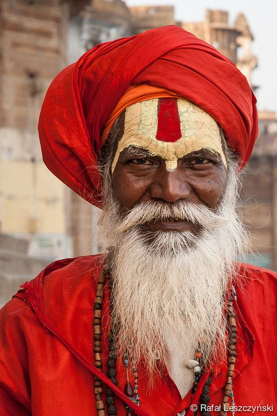 Portrait Sadhu holy man - Varanasi, India - travel photography by RafLeszczynskiPhotos