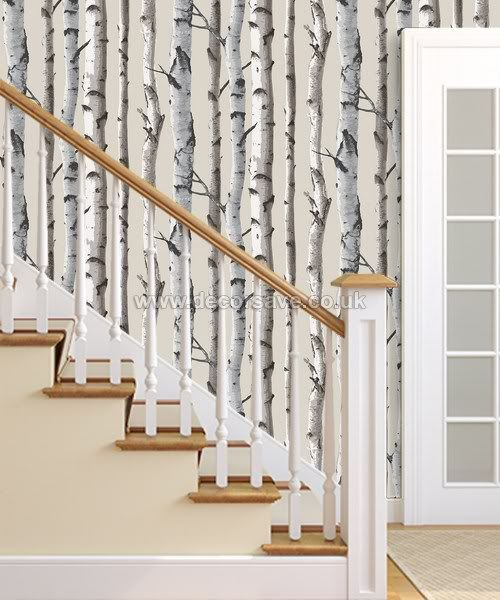 Fine Decor Distinctive Birch Tree Wallpaper Fd31051 Feature Wall Cream Natural