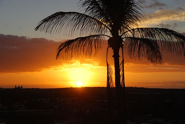 Beautiful sunset in Maspalomas, Gran Canaria.