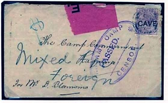 Letter to Curran at Welikada Jail  Ceylon  foto by  Bernard Leigh du Plesis