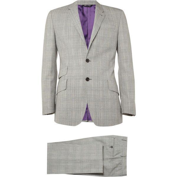 Paul Smith London The Byard Two-Button Wool Suit ($698) ❤ liked on Polyvore featuring men's fashion, men's clothing, men's suits, men, suits, men suits, mens blazer jacket, mens wool blazer, men's apparel and mens blazers