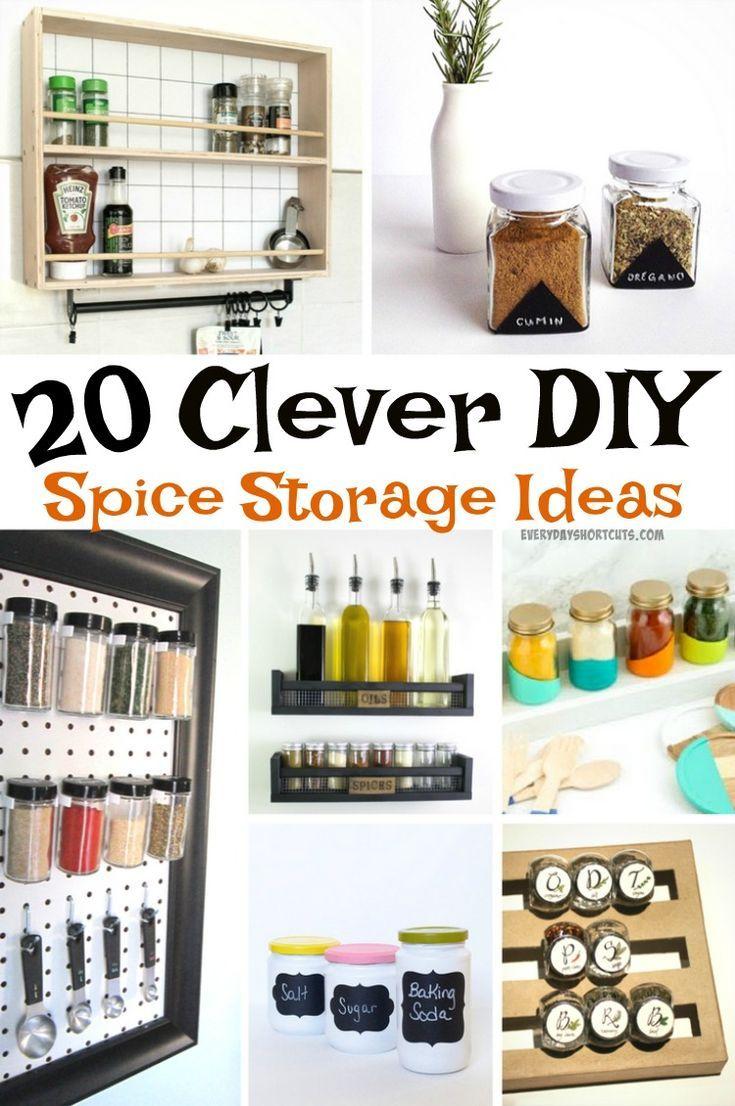 20 Clever Diy Spice Storage Ideas Everyday Shortcuts Diy Spice Storage Spice Storage Diy Spices