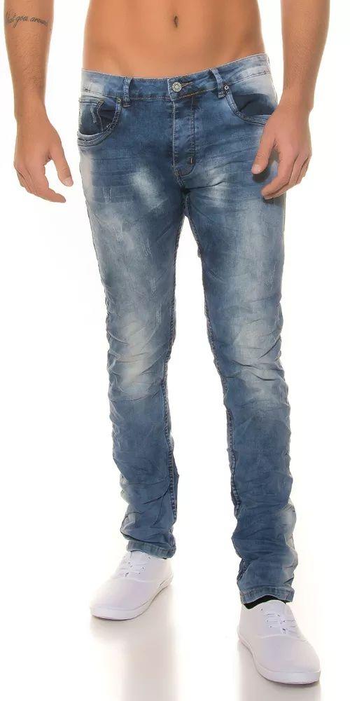 Pánské trendy džíny ve světle modrém odstínu