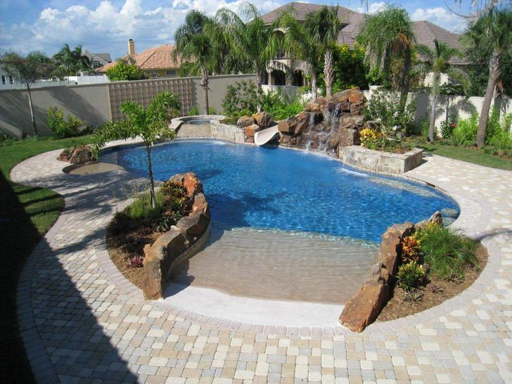 24 best images about pools on pinterest stamped concrete for Simple backyard pools