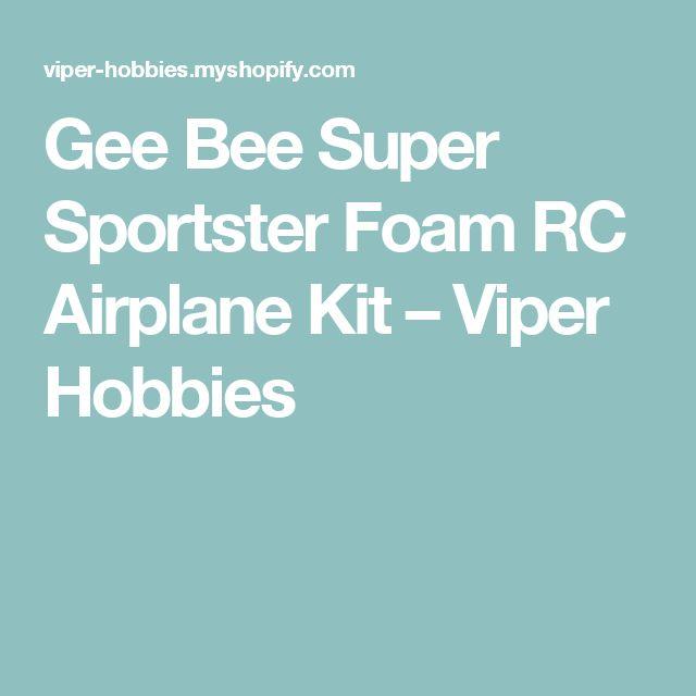 Gee Bee Super Sportster Foam RC Airplane Kit – Viper Hobbies