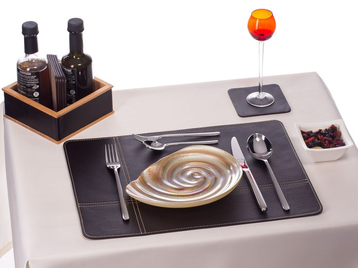 Real Leather Placemats, Dark Bugundy Table Mats, Home Decor Gift Dining  Tableu2026