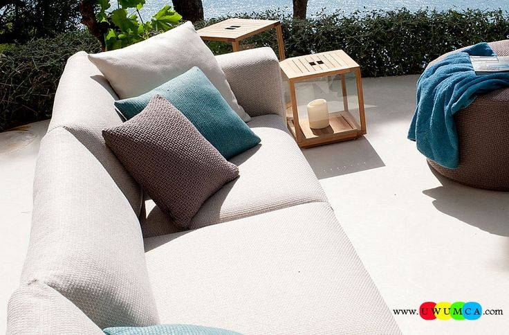 Outdoor / Gardening:Diy Outdoor Lounge Furniture Decor Ikea Chairs Elegant Sofa Cushion Pillows Cheap Table Chaise Lounge Design Double Chaise Lounge For Waterproof Laminated Polypropylene Cover Protects Fabulous Sofa Harsh Weather Luxurious Decoration Collection From Paola Lenti Redefines Your Outdoor Lounge Decor